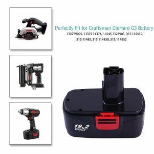 DieHard 19.2V 3.6Ah NiMh Replace for Craftsman Battery Diehard C3 130279005 11375 19.2v