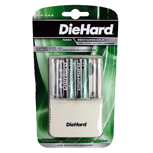 DieHard 41-1168 Speed Charger with 2 AA NiMH Batteries