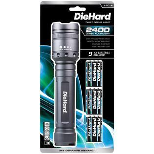 DieHard 41-6124 2400 lm Twist Focus Flashlight (See Description)