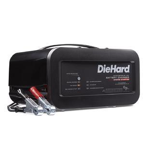 DieHard 71323 Shelf Smart Battery Charger Engine Starter (12 Volt 2 6A Charge 10A Boost 50A) (See details for more info.)