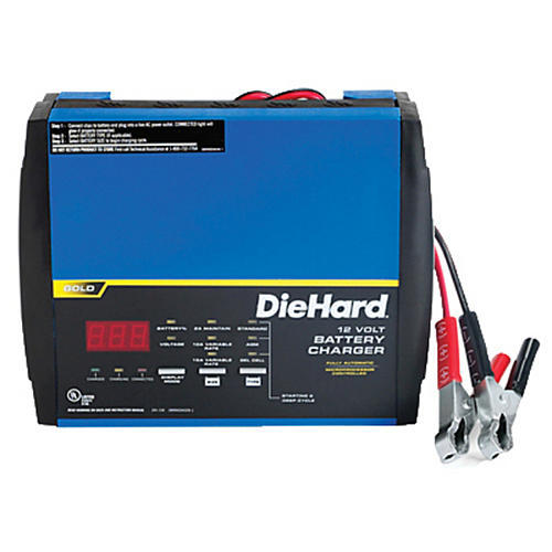 DieHard DH-15A Automatic Microprocessor Controlled Battery Charger, 12V, 2A